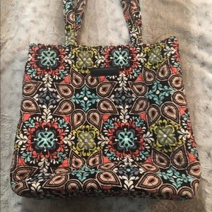 Vera Bradley quilted tote.